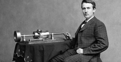 thomas alva edison y el primer fonógrafo